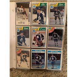 BINDER OF 250+ VINTAGE HOCKEY CARDS, MAPLE LEAFS, CANADIENS AND BRUINS