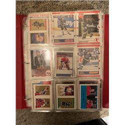 BINDER OF 400 NHL HOCKEY CARDS, MANY SUPERSTARS AND OTHERS ARE INSERT ETC, APPROX BOOK VALUE $1400-1