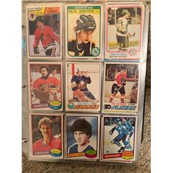BINDER OF 650+ VINTAGE AND MORE RECENT SUPERSTAR CARDS, PLUS MANY ROOKIE AND OTHER SPECIAL INSERT CA