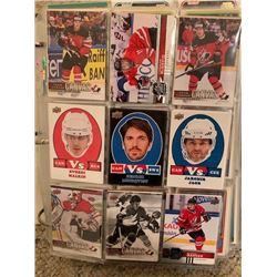 BINDER OF 1000 CARDS, CONTAINS NHL SUPERSTAR, ROOKIE, INSERT AND LIMITED EDITION CARDS, MANY VINTAGE