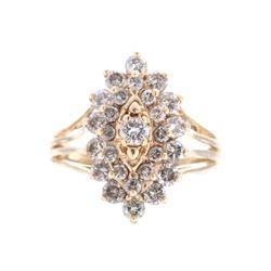 Antique Art Deco 2.10 carat Diamond Gold Ring