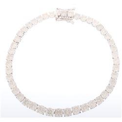CLASSIC 12.10 ct. Diamond 14K White Gold Bracelet