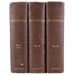 Montana Its Story and Biography Three Volume Set