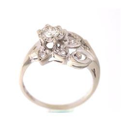Art Deco c. 1920's Diamond & Gold Ring RARE