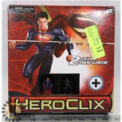 SUPERMAN HEROCLIX 2 FIGURE MINI GAME.