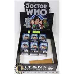 LOT OF 6 TITANS VINYL DOCTOR WHO FIGURES.