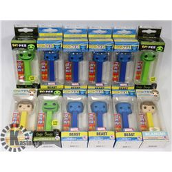 LOT OF ASSORTED PEZ DISPENSERS