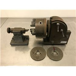 YUASA 550-031 DIVIDING HEAD W/ TAIL STOCK