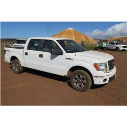2014 Ford F150 STX Quad Cab Pickup Truck, 48,535 Miles, Lic. 848TVF (Runs & Drives - See Video)