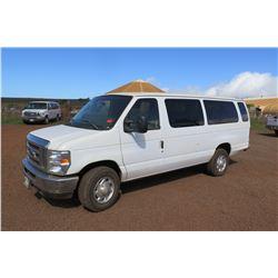 2013 Ford E350 Passenger Van 53,549 Miles, Lic. 245MDJ (Runs & Drives - See Video), 1 Window Broken