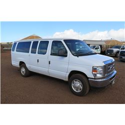 2013 Ford E350 Passenger Van 53,775 Miles, Lic. 908MDK (Runs & Drives - See Video)