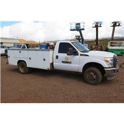 2014 Ford F350 Service Truck w/ Compressor (nothing else), 35,818 Miles, Lic. 256TVE (Runs & Drives