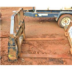 Quick Attach Pallet Forks for Large Skidsteer