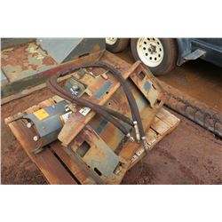 Skidsteer Auger Attachment (Motor Bad)