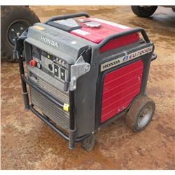 Honda EU 7000 Electric Start Portable Generator, 55W, 750 Hours (Runs & Works - See Video)