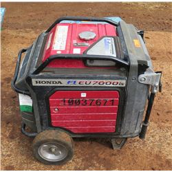 Honda EU 7000 Electric Start Portable Generator, 55W, 282 Hours (Runs & Works - See Video)