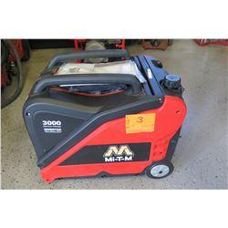 Unused Store Display: Mi-T-M Model GEN-3000-IMMO Generator, 3000W