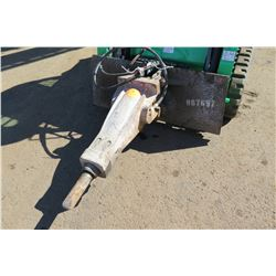 Atlas Copco Hydraulic Hammer, Used w/ Skidsteer