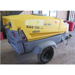 Atlas Copco XAS 185 JD7 Portable Diesl Compressor, 3132 Hrs (Starts & Runs - See Video)
