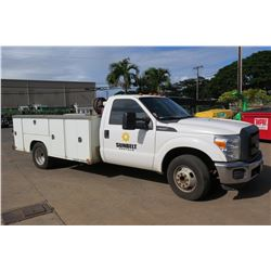 2014 Ford F350 Service Truck w/ Compressor/Hose (nothing else), 58,759 Miles, Lic. 210TVE