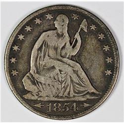 1854-O ARROWS HALF DOLLAR