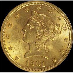 1901 $10.00 LIBERTY GOLD