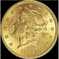 1893 $20.00 GOLD LIBERTY
