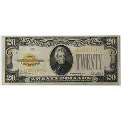 1928 $20.00 GOLD CERTIFICATE
