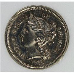 1865 THREE CENT NICKEL