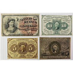 FOUR PCS. FRACTIONAL CURRENCY: