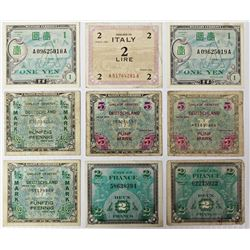 (9) PIECES OF FOREIGN CURRENCY