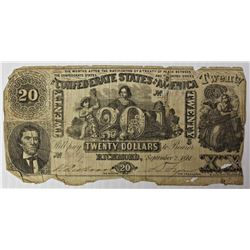 1861 $20 CONFEDERATE STATES OF AMERICA