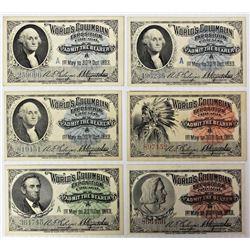 (6) 1893 WORLD COLUMBIAN EXPOSITION