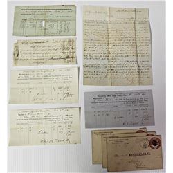 GROUP OF FINANCIAL DOCUMENTS & LETTERS