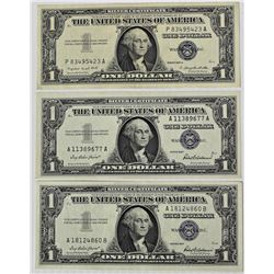 (3) 1957 SILVER CERTIFICATES