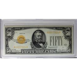 1928 $50.00 GOLD CERTIFICATE