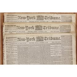 THREE DIFFERENT CIVIL WAR NEWSPAPERS