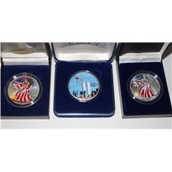 (3) COLORIZED AMERICAN SILVER EAGLES