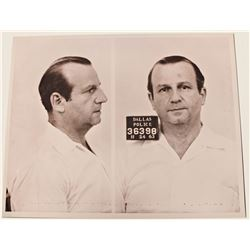 JACK RUBY SIGNED CHECK AND COPY OF MUGSHOT