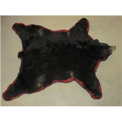 """Double Matted Black Bear Rug- Good Condition- Nose To Tail 73""""- Across Front Legs 70"""""""