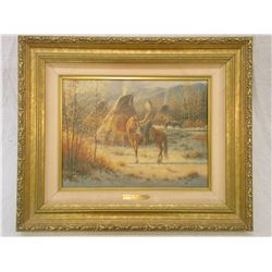 """Signed Jack Terry Print- """"Seasons of Change""""- 113/760- Frame 24"""" W X 20"""" H"""