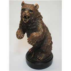 """Unmarked Grizzly Bear Bronze- 13""""H X 6""""Base"""