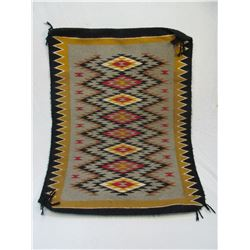 """Old Fringed Navajo Blanket- 36"""" X 28.5""""- Good Condition"""