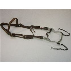 Headstall With Silver Overlaid Stainless Bit- Might Be Walla Walla Prison- Nevada Cheek Curb Mouth