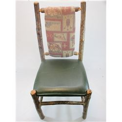 """Upholstered Log Chair- 40""""H X 20""""W"""