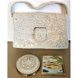 GR OF 3, VINTAGE PURSE & COMPACTS