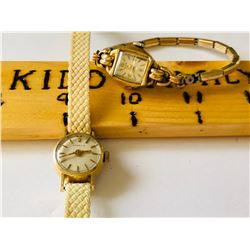 GR OF 2, LADIES GOLD WATCHES