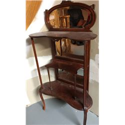 ANTIQUE VICTORIAN MAHOGANY HALL STAND