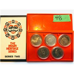 THE INDIAN HERITAGE SERIES TWO COIN SET