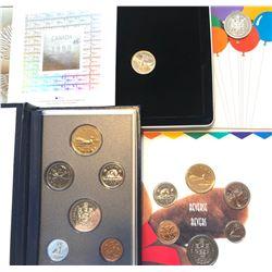 GR OF 4, DATE CELEBRATION COIN / STAMP SETS - 1995 / 96